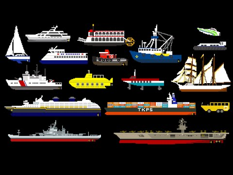 Water Vehicles (Updated) - Boats & Ships - The Kids' Picture
