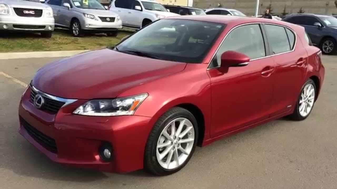 Lexus Certified Pre Owned Matador Red 2011 Ct 200h Fwd