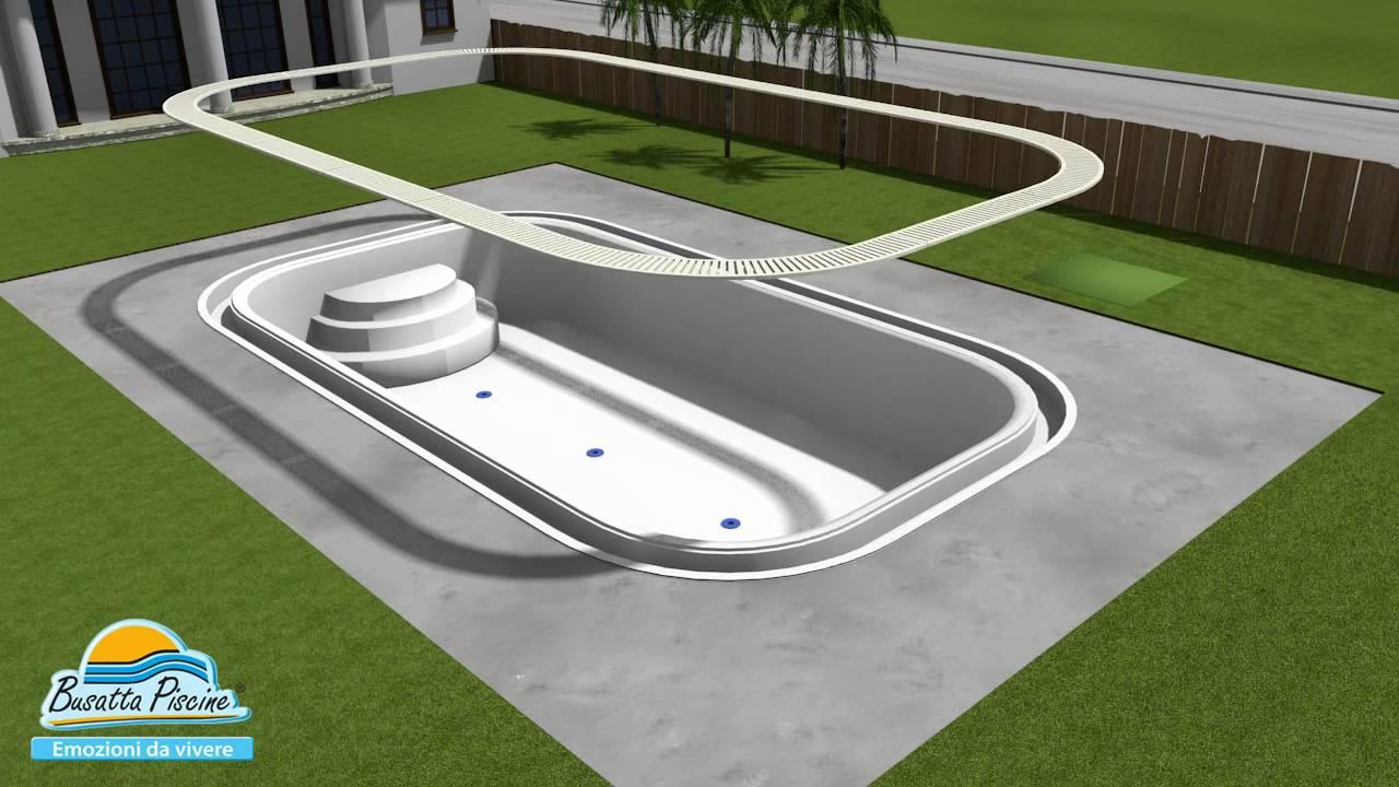 Busatta Piscine fasi di costruzione di una piscina  YouTube