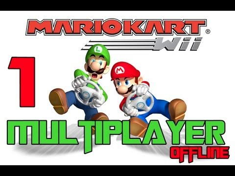 Mario Kart Nintendo wii Gameplay Multiplayer Offline 3 Jogadores modo Versus PT-1