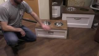 Подставка для кормления собаки и хранения корма M