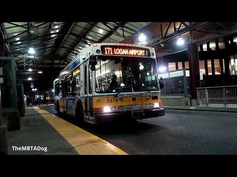 TheMBTADog: MBTA Bus 171 Ride: Dudley Square to Logan Airport via Andrew Square [NABI 2278]