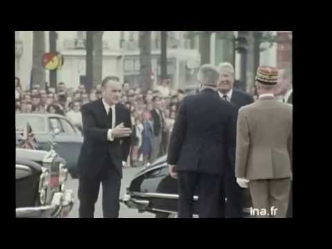 Prime Minister Edward Heath meeting President Georges Pompidou in Paris
