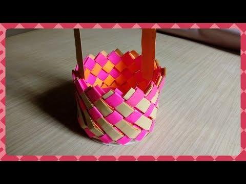 How to make easy paper Basket at home / Diy basket