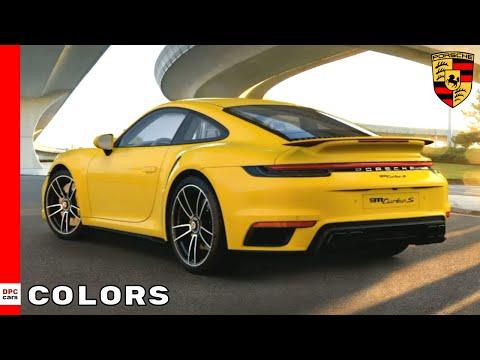 2021 Porsche 911 992 Turbo S Colors