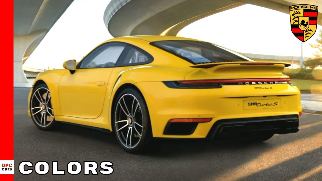 2021 Porsche 911 992 Turbo S Colors Youtube