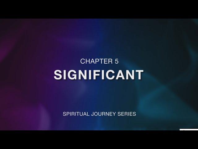 คำเทศนา เดินในการทรงเรียกให้สุดทาง (The Significance)