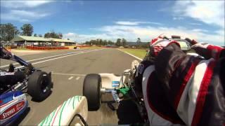 Race Start & Drag Race between Rotax & IAME X30