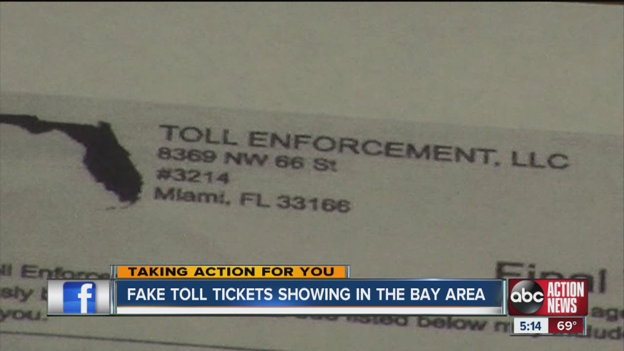 how much is a toll violation in florida
