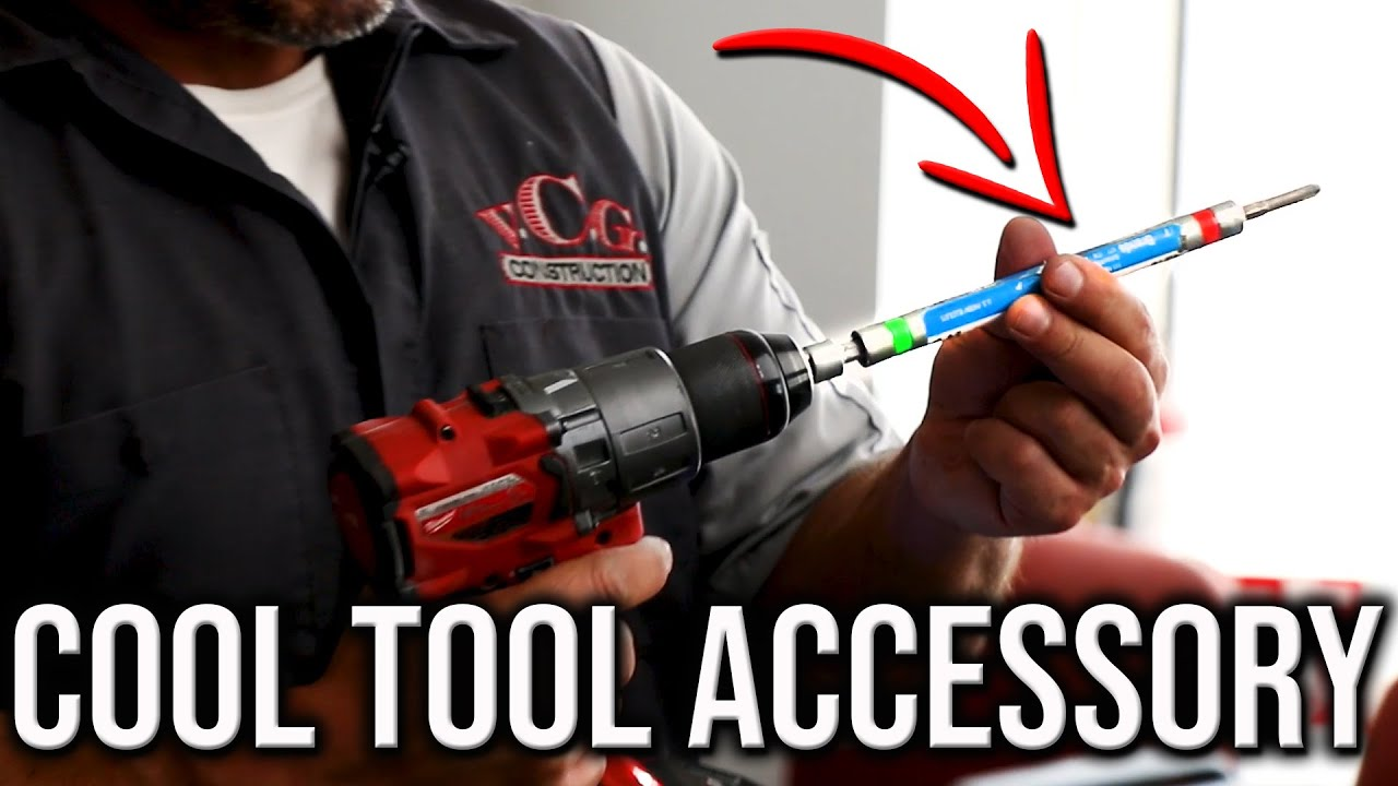 Cool Tool Accessory That Will Help You Drill And Drive Into Concrete Or Brick!