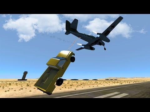 WHEN CARS FLY -  HUGE NEW UPDATE - Engine Sounds, Ropes & More! - BeamNG Drive