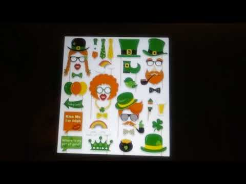 St. Patrick's Day Photo Booth Props - Shamrock Irish Party Supplies Decorations 59ct. Review
