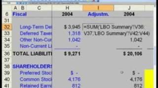 WST: 17.4 مجمع LBO النمذجة - BS شكلية الدين Adj