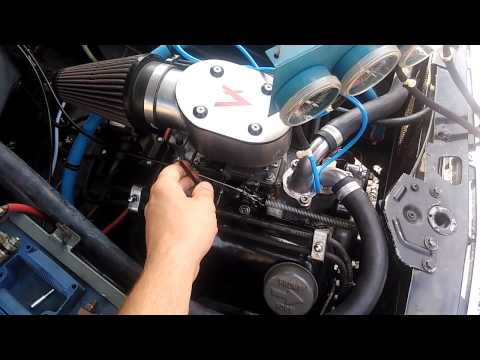 Ford 1500cc V4 engine running on Weber 45DFC synchronous carb