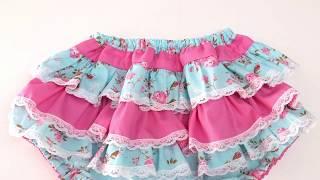 Calcinha Tapa fraldas fácil – Com babados e rendas