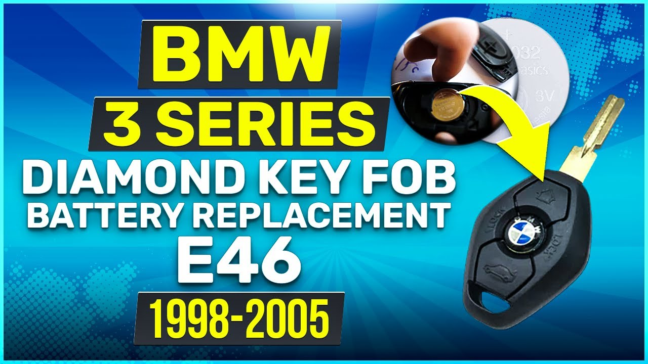 1998 2005 Bmw E46 3 Series Key Fob Battery Replacement Diy