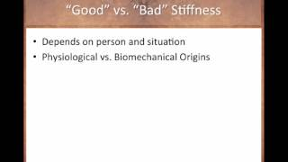 is there a such thing as good and bad stiffness