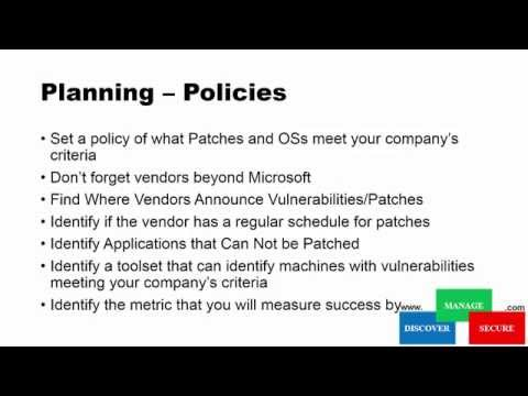 VIDEO: How To Implement a Patch Management Process