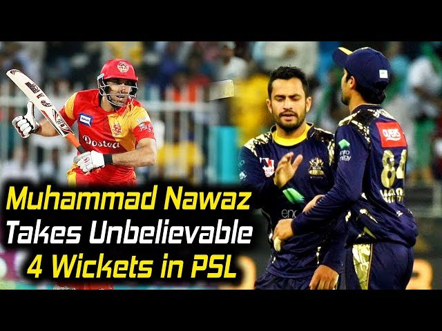 Muhammad Nawaz Takes Unbelievable 4 Wickets in PSL Against Islamabad | HBL PSL