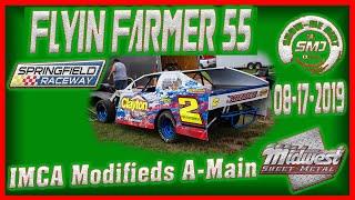 S03 E415 ICMA A-Modified Racing A-Main Flyin Farmer 55 Springfield Raceway 08-17-2019  Dirt Track