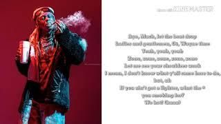 Lil Wayne Uproar (CLEAN LYRICS)