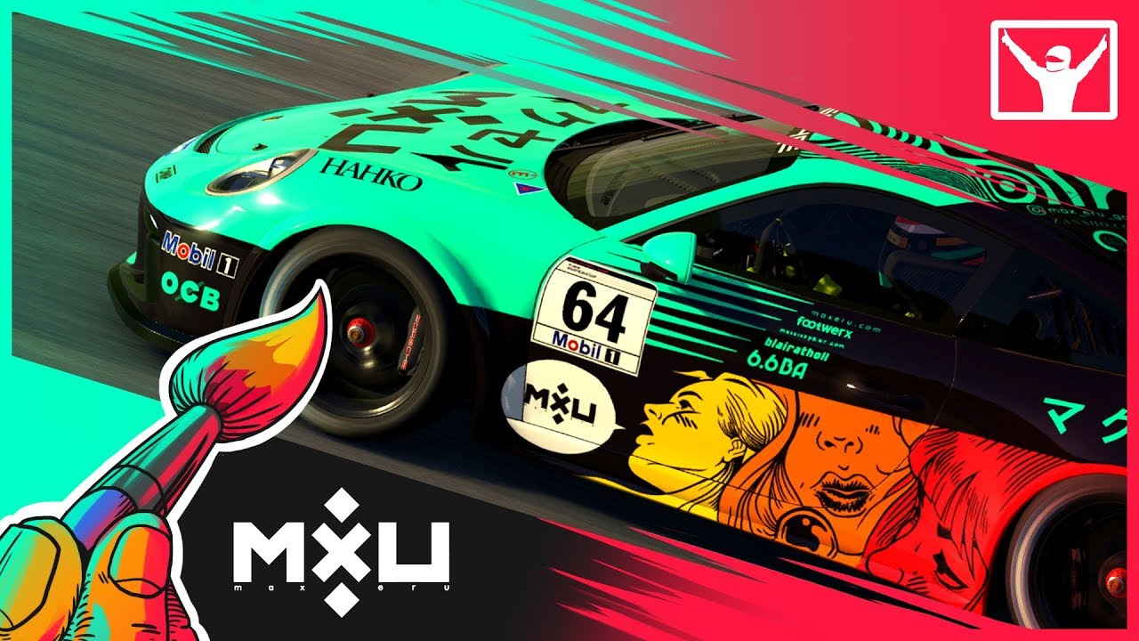 Download 15 hrs in 15 mins - Livery Design (Timelapse) - iRacing Porsche GT3 Cup
