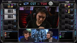 Coast vs TSM | 2014 NA LCS Spring split S4 W2D2 G2 | TSM vs Coast full game HD | CST vs TSM