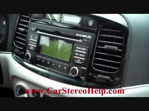 How to Hyundai Accent Car Stereo Removal replace repair cd - YouTube