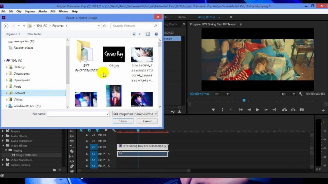 #Adobe Premier Tutorial Image Matte Key - YouTube
