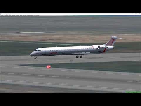 FSX Tunisair Express CRJ900 landing Tunis