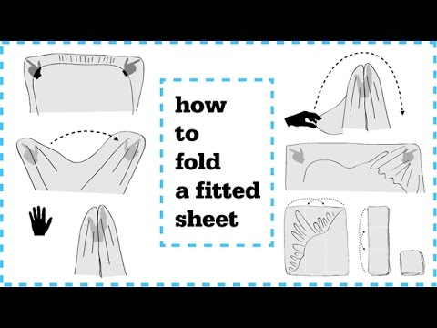 How to fold Fitted Sheets neatly - YouTube