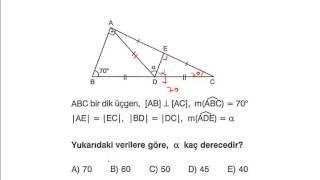 Kayseri Matematik Dünyası İKİZKENAR ÜÇGEN