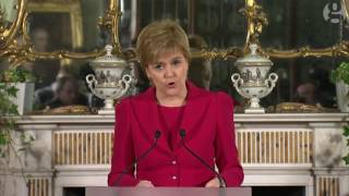 Nicola Sturgeon to seek second Scottish independence referendum