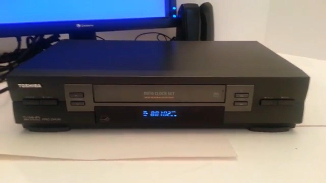 toshiba w603 vcr vhs hifi stereo tested no remote see video youtube rh youtube com Toshiba DVD Recorder VCR Combo Toshiba DVD VCR Combo Player