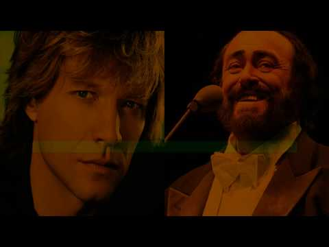 Bon Jovi e Luciano Pavarotti - Let It Rain - karaoke