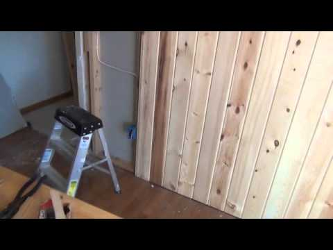 Creating a Tongue  Groove Accent Wall PART II  YouTube