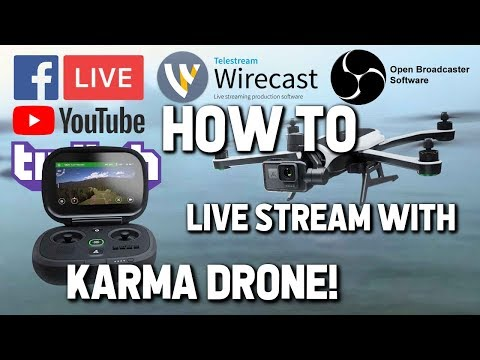 How To LIVE STREAM With GoPro KARMA DRONE!