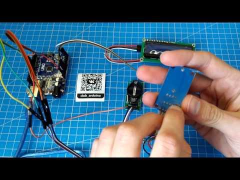 Урок 4 Подключаем модуль часов реального времени 1302 и дисплей 1602 I2C схема + код