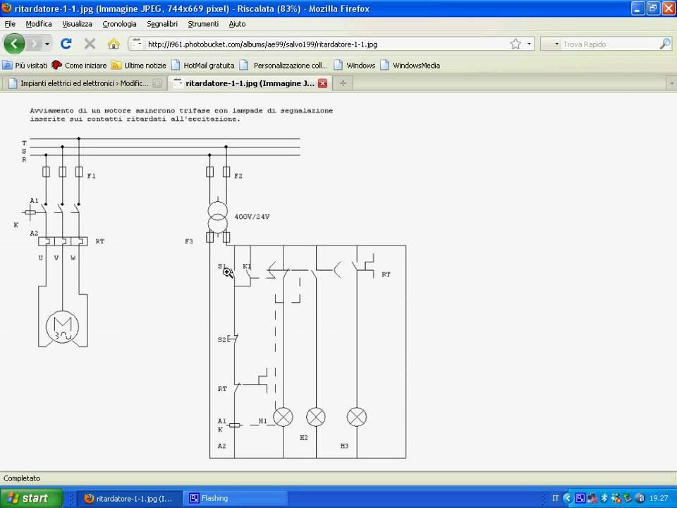 Schema Elettrico Marcia Arresto : Comando elettrico di un motore asincrono trifase youtube
