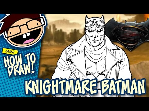 How to Draw KNIGHTMARE BATMAN (Batman v Superman: Dawn of Justice) | Easy Step-by-Step Tutorial