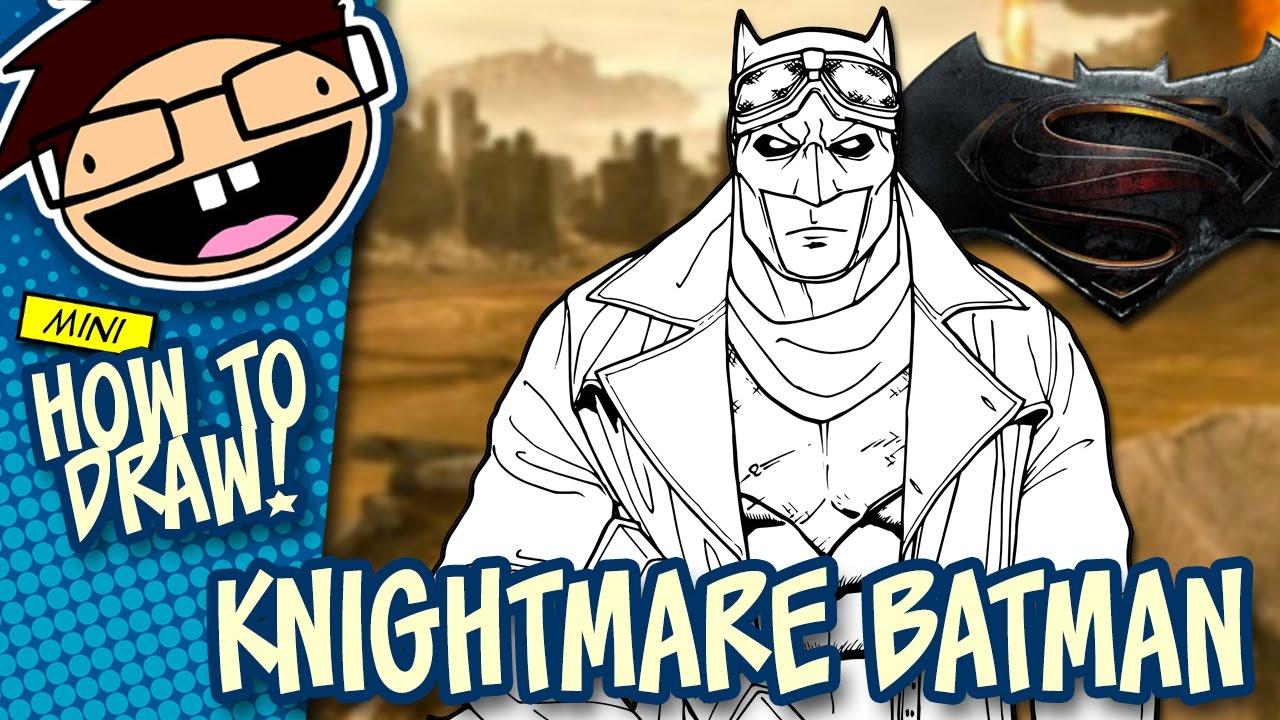 How To Draw KNIGHTMARE BATMAN Batman V Superman Dawn Of Justice