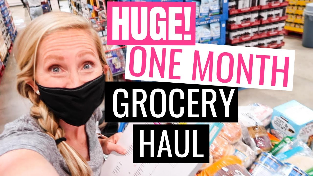 August 2020 Grocery Haul on a Budget | ONE MONTH Grocery Haul under $400!