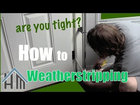 How to replace exterior door weather stripping. Easy. Home Mender