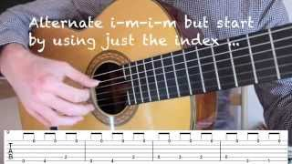 How to Play Malaguena Classical Guitar Lesson How to Play the Riff Free Tab