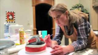 How to make a sombrero hat cake - FONDANT decorating