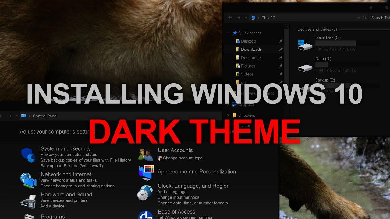 Install Custom Windows 10 Dark Theme - Arc, AfterDark CC, UXThemePatcher