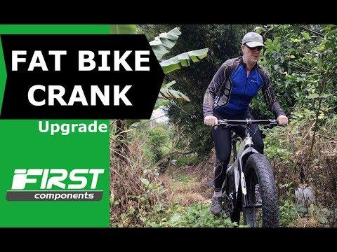 Fat Bike Crankset Upgrade (Square Taper to Integrated) & Trail Test