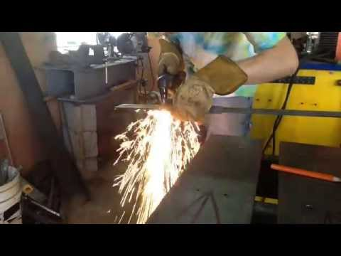 Making truss anchors, for metal trusses.