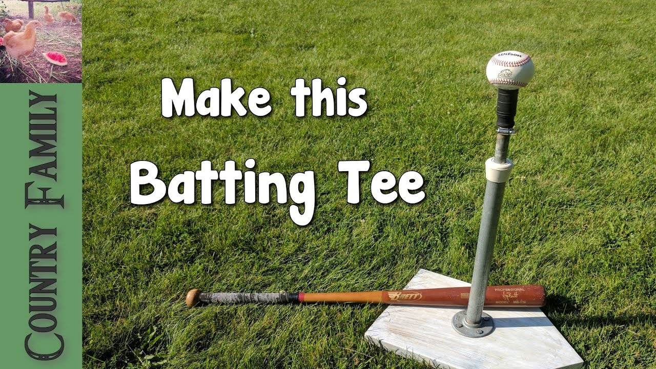the best batting tee how to make it youtube. Black Bedroom Furniture Sets. Home Design Ideas