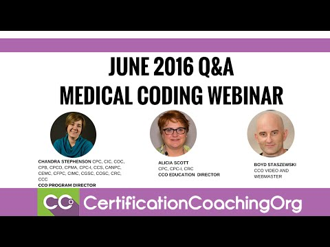 cco-june-2016-q&a-webinar-intro-|-free-medical-coding-webinar